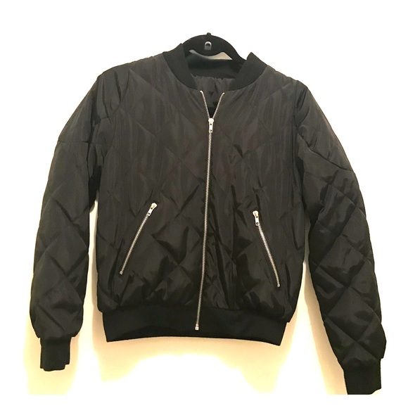 Jackets & Blazers - Vintage Black Quilted Bomber